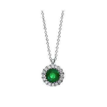 Diamond Group Damen Smaragdcollier mit Diamanten Image