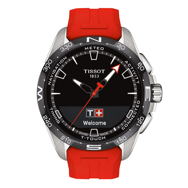 Tissot Herrenuhr T-Touch Connect Solar Rot Image
