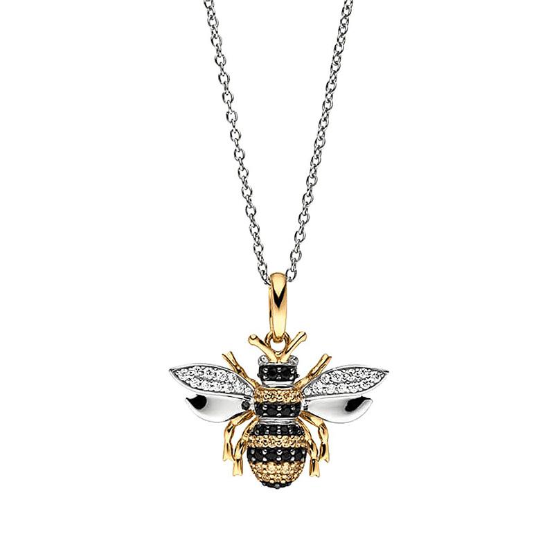 Viventy Silber Damen-Kette mit Anhänger Biene Image